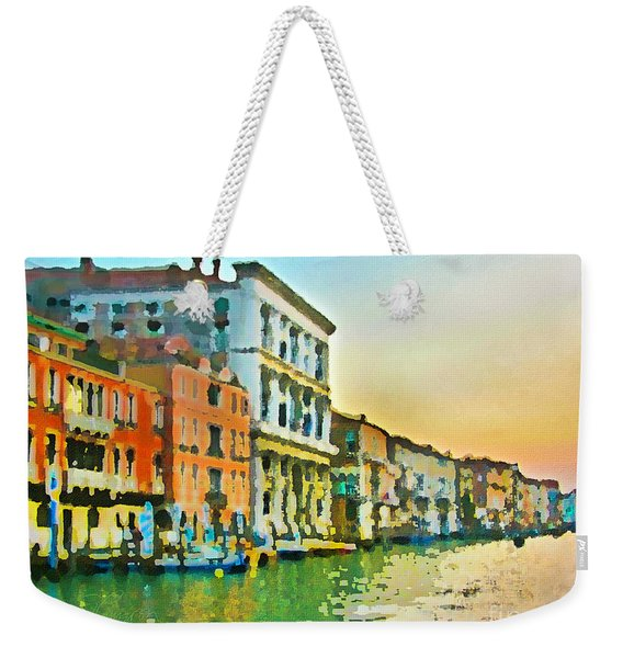 Canal Sunset - Venice Weekender Tote Bag