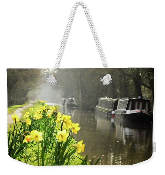 Canalside Daffodils Weekender Tote Bag