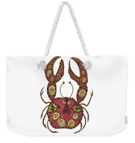 Weekender Tote Bag featuring the drawing Cancer by Barbara McConoughey