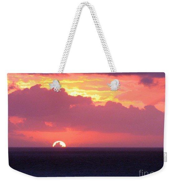 Sunrise Interrupted Weekender Tote Bag