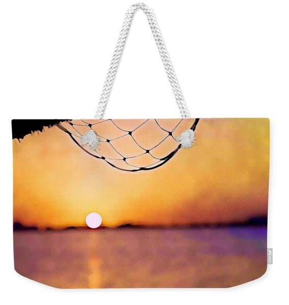 Cancun Sunset On The Lake Weekender Tote Bag
