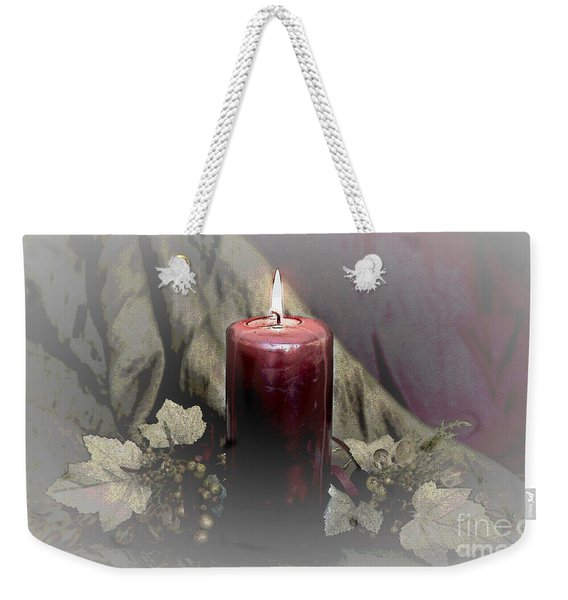 Candle And Glass Grapes Weekender Tote Bag