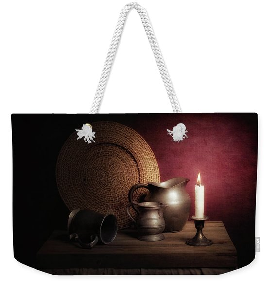 Candle Light Still Life Weekender Tote Bag