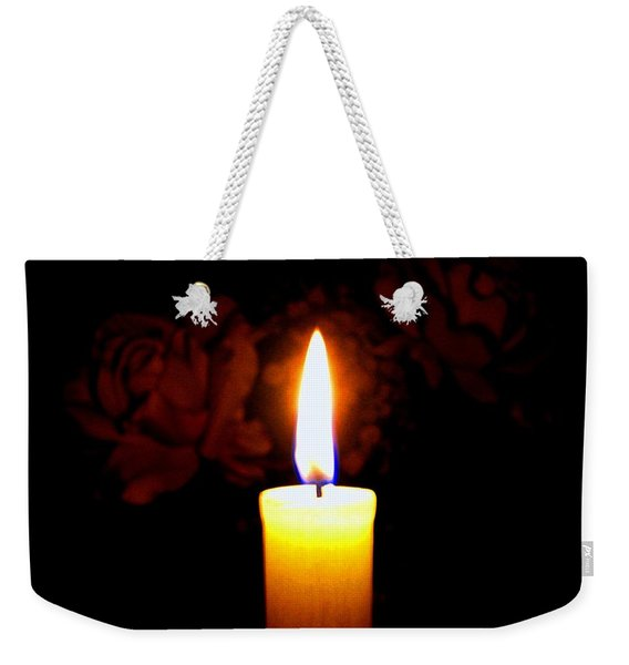Candlelight And Roses Weekender Tote Bag
