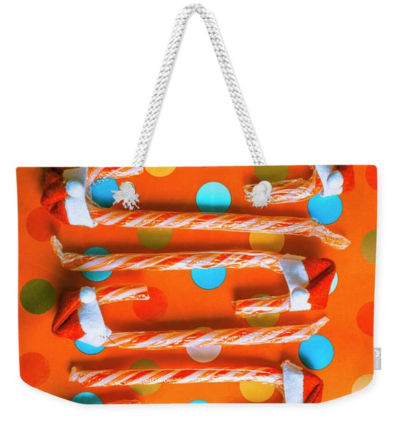 Candy Canes And Christmas Hats Weekender Tote Bag