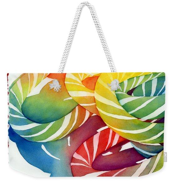 Candy Canes Weekender Tote Bag