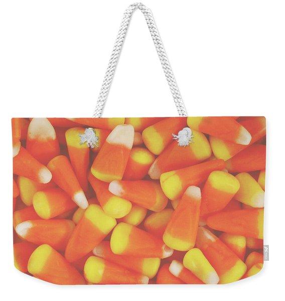 Candy Corn Square- By Linda Woods Weekender Tote Bag