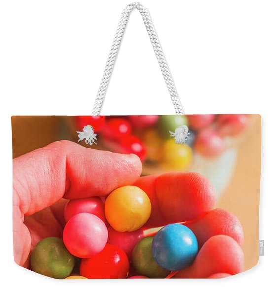 Candy Hand At Lolly Store Weekender Tote Bag