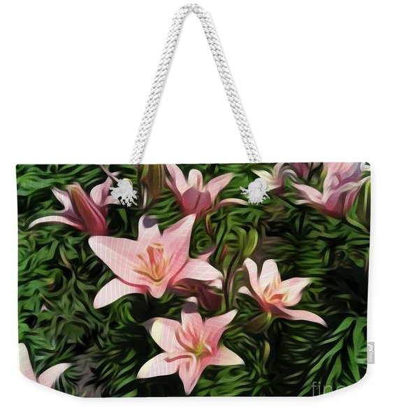 Candy-striped Day Lilies Weekender Tote Bag