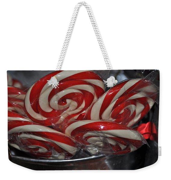 Candycane Lolli Weekender Tote Bag