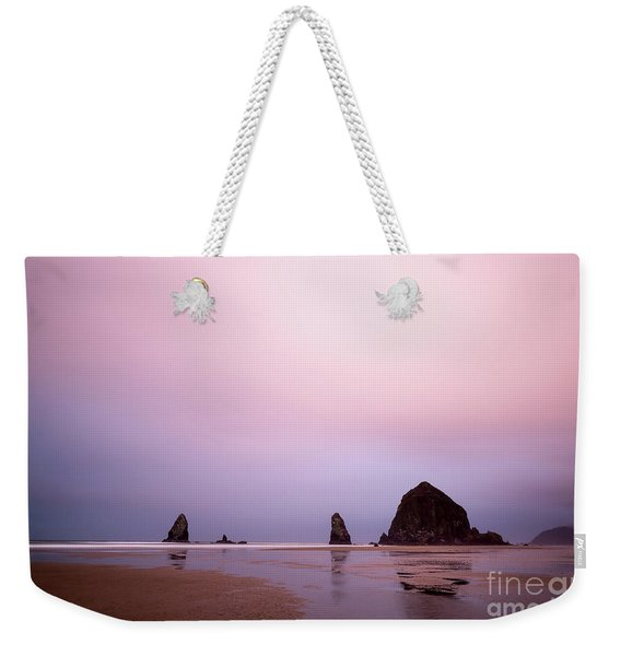 Cannon Beach In The Early Morning Blue Light Weekender Tote Bag