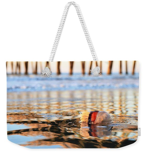 Cannonball Jellyfish Beached Weekender Tote Bag
