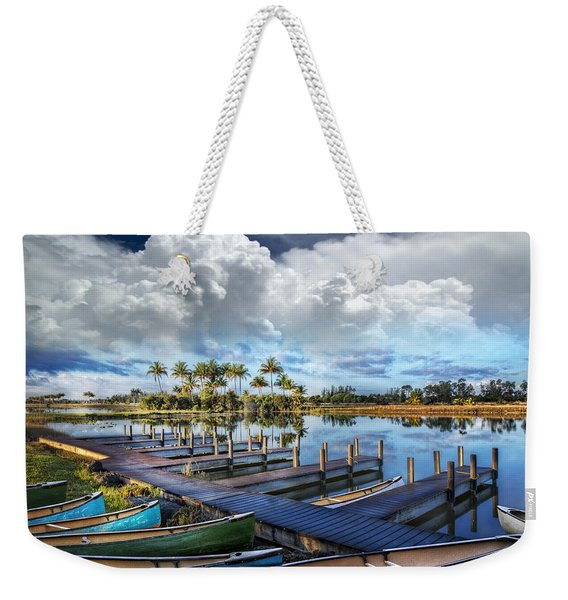 Canoes At The Docks Weekender Tote Bag
