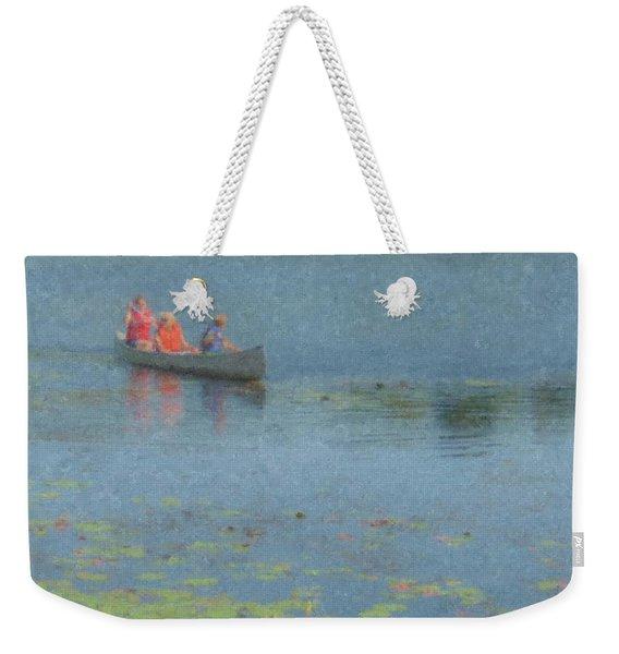 Canoes On Shovelshop Pond Weekender Tote Bag