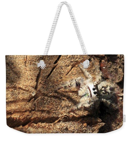 Canopy Jumping Spider Weekender Tote Bag