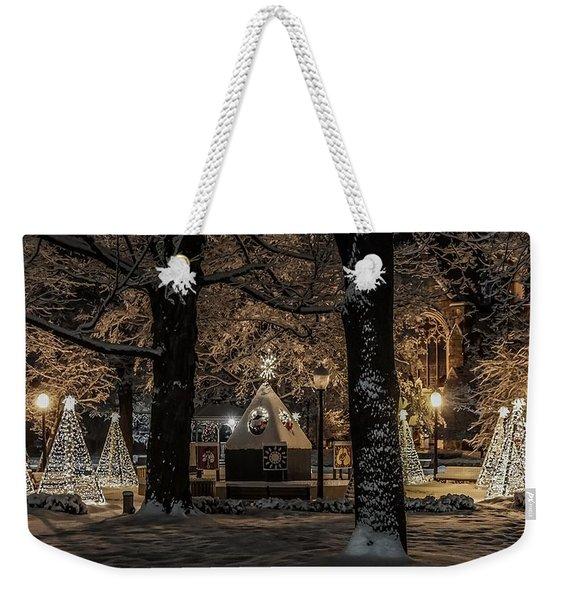 Canopy Of Christmas Lights Weekender Tote Bag