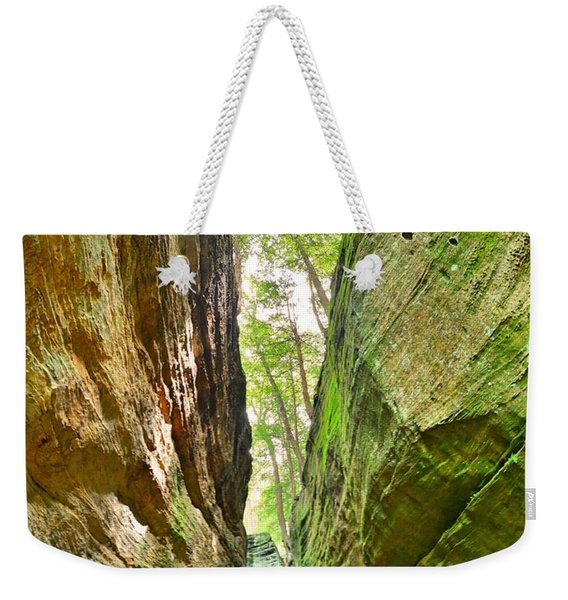 Cantwell Cliffs Trail Hocking Hills Ohio Weekender Tote Bag