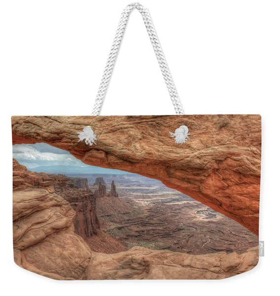 Canyonlands From Mesa Arch Weekender Tote Bag