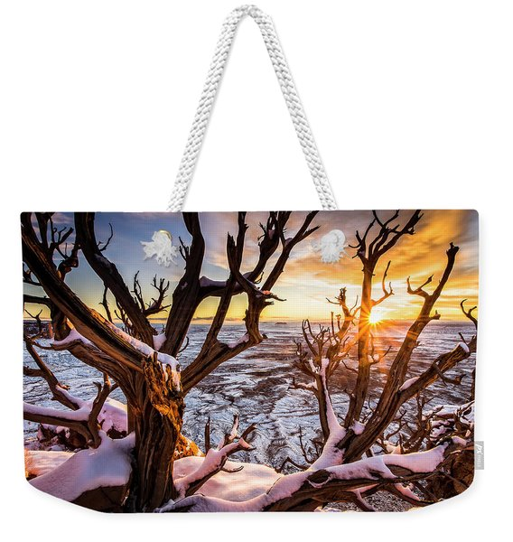 Canyonlands Winter Sunset Weekender Tote Bag