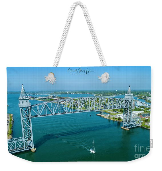 Cape Cod Canal Suspension Bridge Weekender Tote Bag