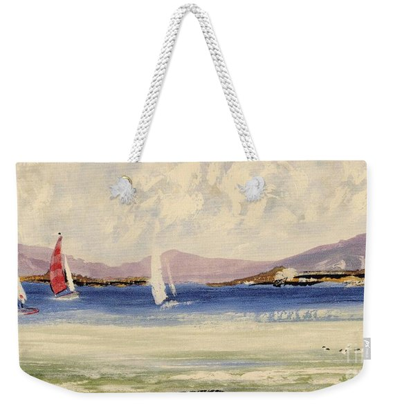 Weekender Tote Bag featuring the mixed media Cape Days by Writermore Arts