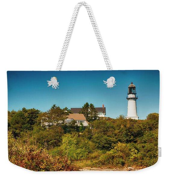 Cape Elizabeth Lighthouse Weekender Tote Bag
