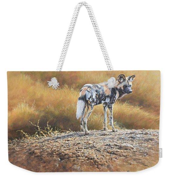 Cape Hunting Dog Weekender Tote Bag