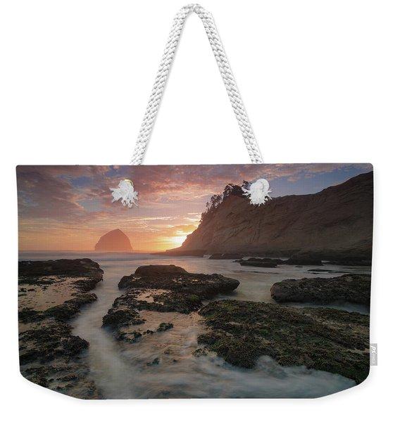Cape Kiwanda At Sunset Weekender Tote Bag