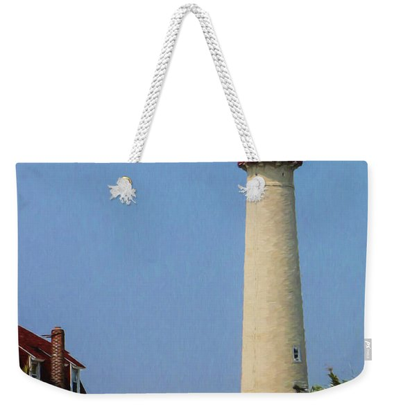 Cape May Lighthouse Vertical Weekender Tote Bag