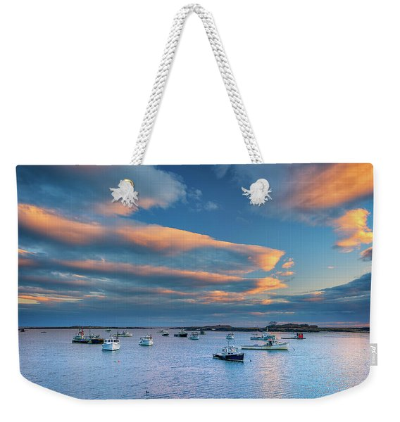 Cape Porpoise Harbor At Sunset Weekender Tote Bag