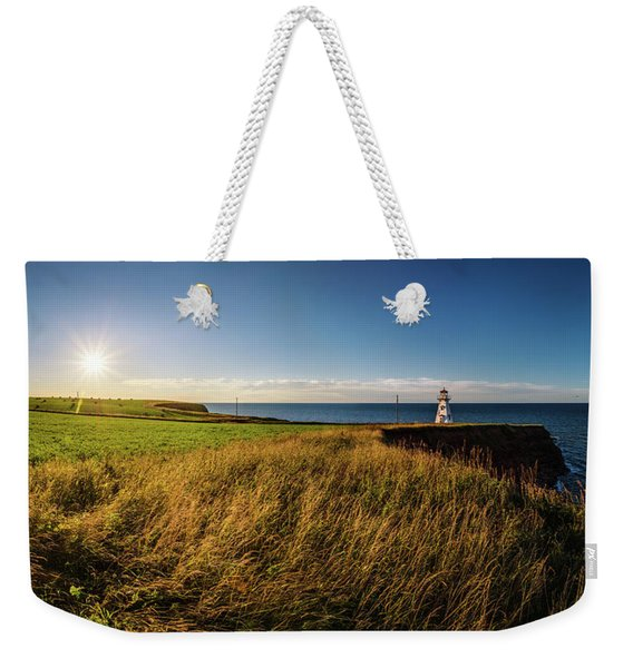 Cape Tryon Lighthouse Sunset Weekender Tote Bag