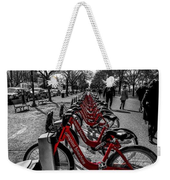 Capital Bikeshare Weekender Tote Bag