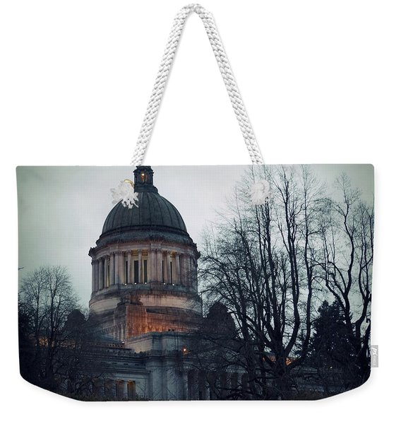 Weekender Tote Bag featuring the photograph Capitol Aglow by Patricia Strand