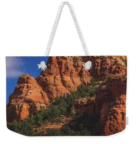 Weekender Tote Bag featuring the photograph Capitol Butte Details by Andy Konieczny