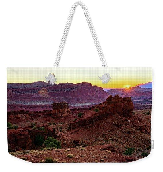 Capitol Reef Sunrise Weekender Tote Bag