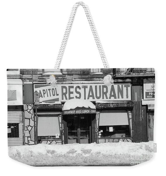 Capitol Winter Weekender Tote Bag