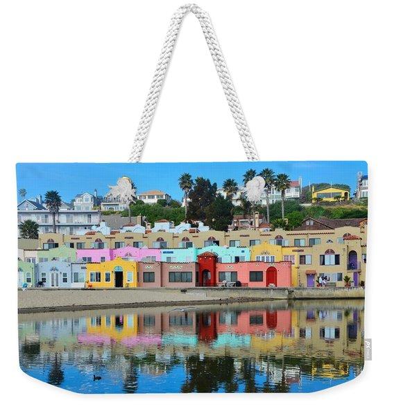Capitola California Colorful Hotel Weekender Tote Bag