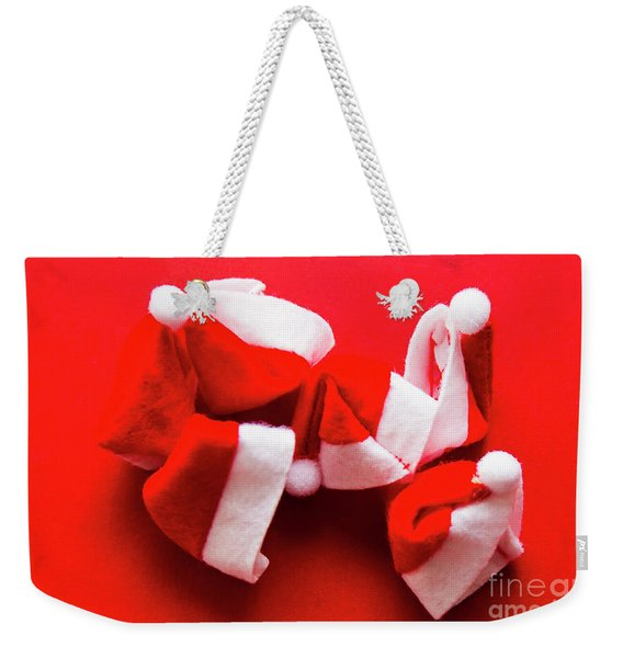 Capping Off A Merry Christmas Weekender Tote Bag