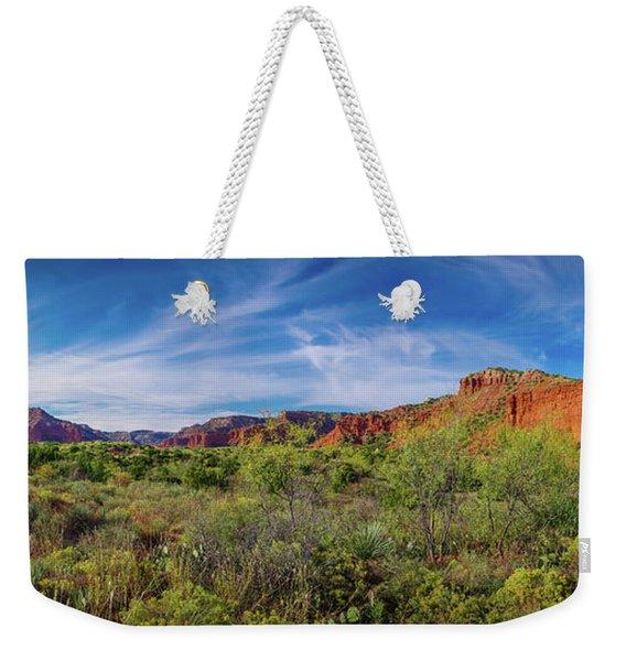Caprock Canyon Panorama 2 Weekender Tote Bag