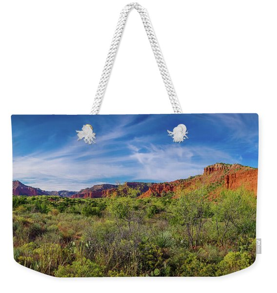 Caprock Canyon Panorama 2 Weekender Tote Bag