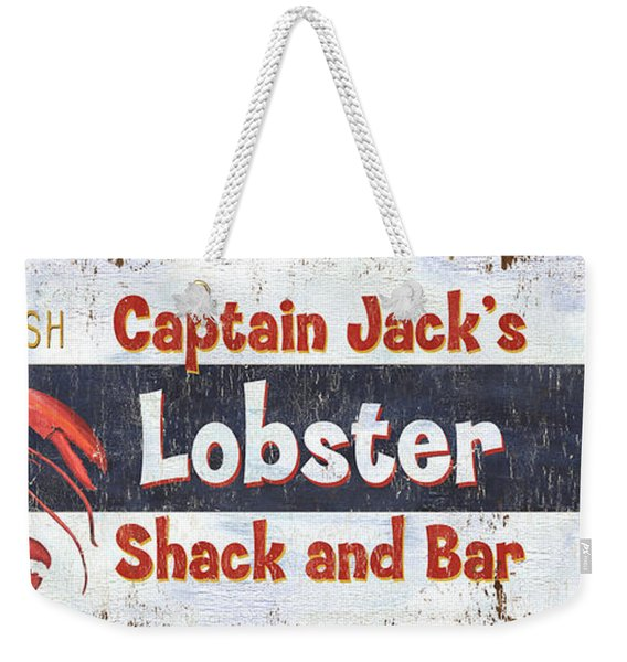 Captain Jack's Lobster Shack Weekender Tote Bag