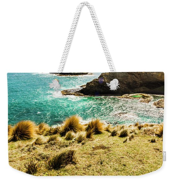 Captivating Coastal Cliff Weekender Tote Bag