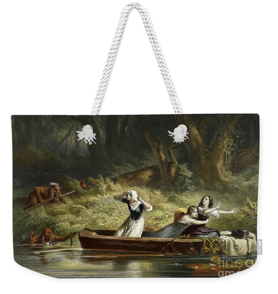 Capture Of The Daughters Of Daniel Boone And Richard Callaway By The Indians Weekender Tote Bag