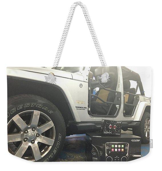 Car Alarm Weekender Tote Bag