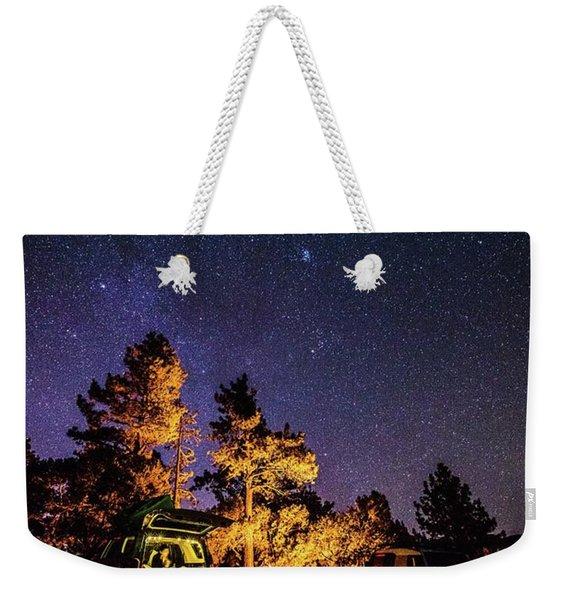Car Camping Weekender Tote Bag