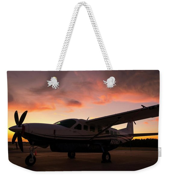 Caravan On The Ramp In The Sunset Weekender Tote Bag