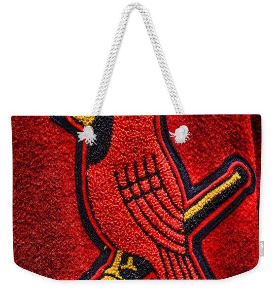 Cardinal Baseball Weekender Tote Bag