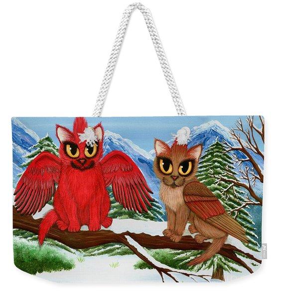 Cardinal Cats Weekender Tote Bag