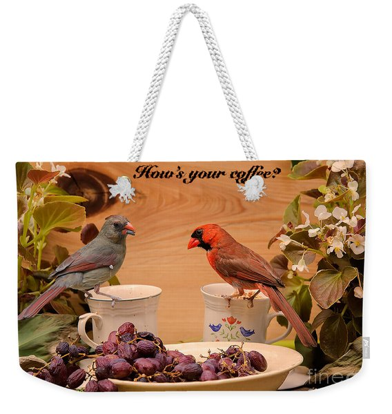 Cardinal Coffee Weekender Tote Bag