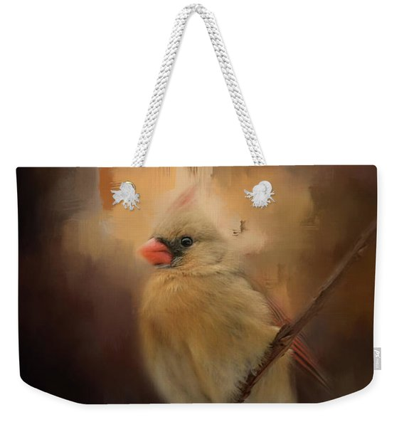 Cardinal In The Evening Light Bird Art Weekender Tote Bag